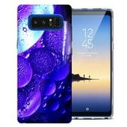 MUNDAZE Samsung Galaxy Note 9 Purple Bubbles Design TPU Gel Phone Case Cover