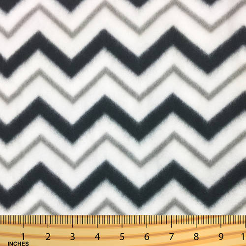 SHASON TEXTILE (2 Yards cut) POLAR FLEECE FABRIC 100% POLYESTER ANTI-PILL, New High Fashion Chevron, Available in Multiple Colors
