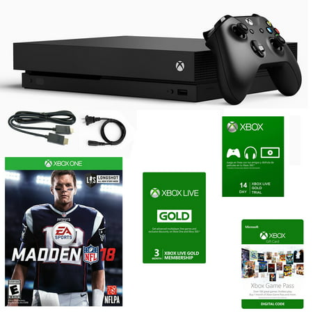 Live Sound Console - Xbox One X 1TB Console with Madden 18 and 3 Month Live