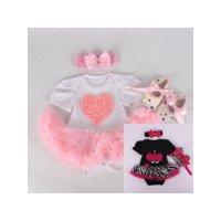 "22"" Handmake Lifelike Reborn Doll Clothing Newborn Baby 's Dress Pajamas Clothes Set"