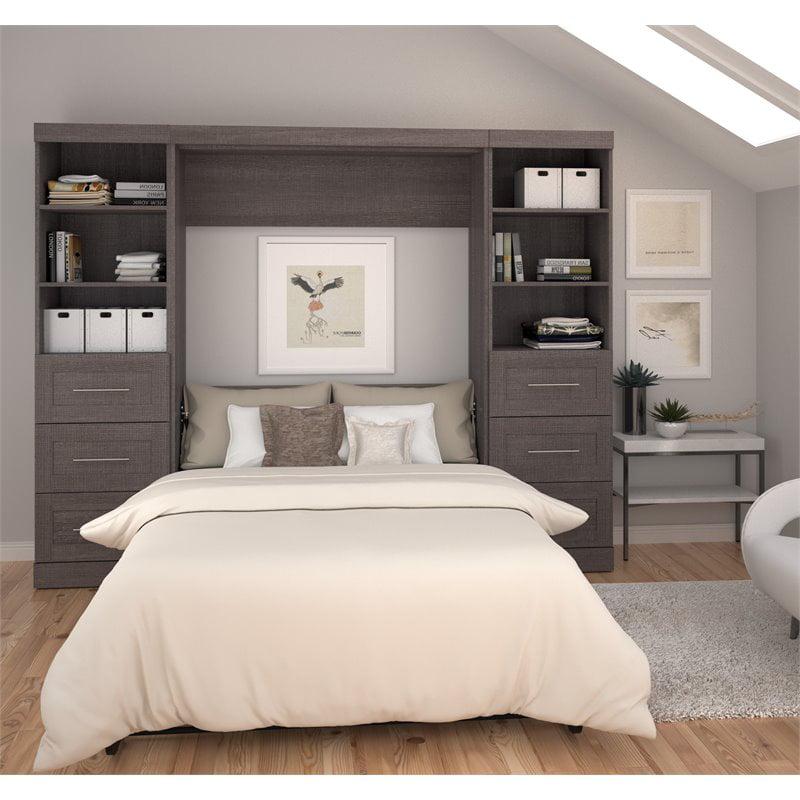 """Atlin Designs 109"""" Full Wall Bed in Bark Gray"""