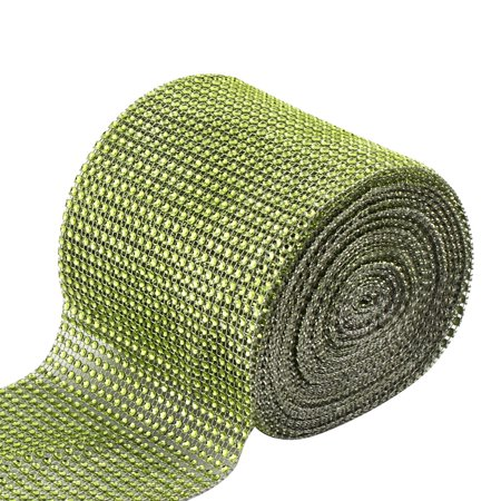Home Party Plastic Cake Glass Table Decor Mesh Diamond Ribbon Lawn Green 10 Yard - Cake Table