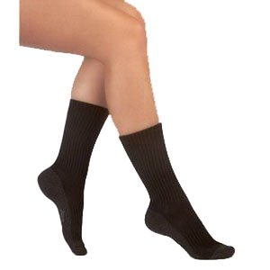 Juzo Silver Sole Support Socks - Silver Sole Support Sock,12-16mmhg,Med,Crew,Black