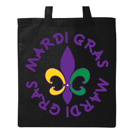 Mardi Gras Holiday Fleur De Lis Tote Bag Black One Size