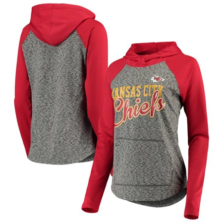 new concept acc19 91033 Kansas City Chiefs G-III 4Her by Carl Banks Women's Championship Ring  Script Pullover Hoodie - Heathered Black/Red