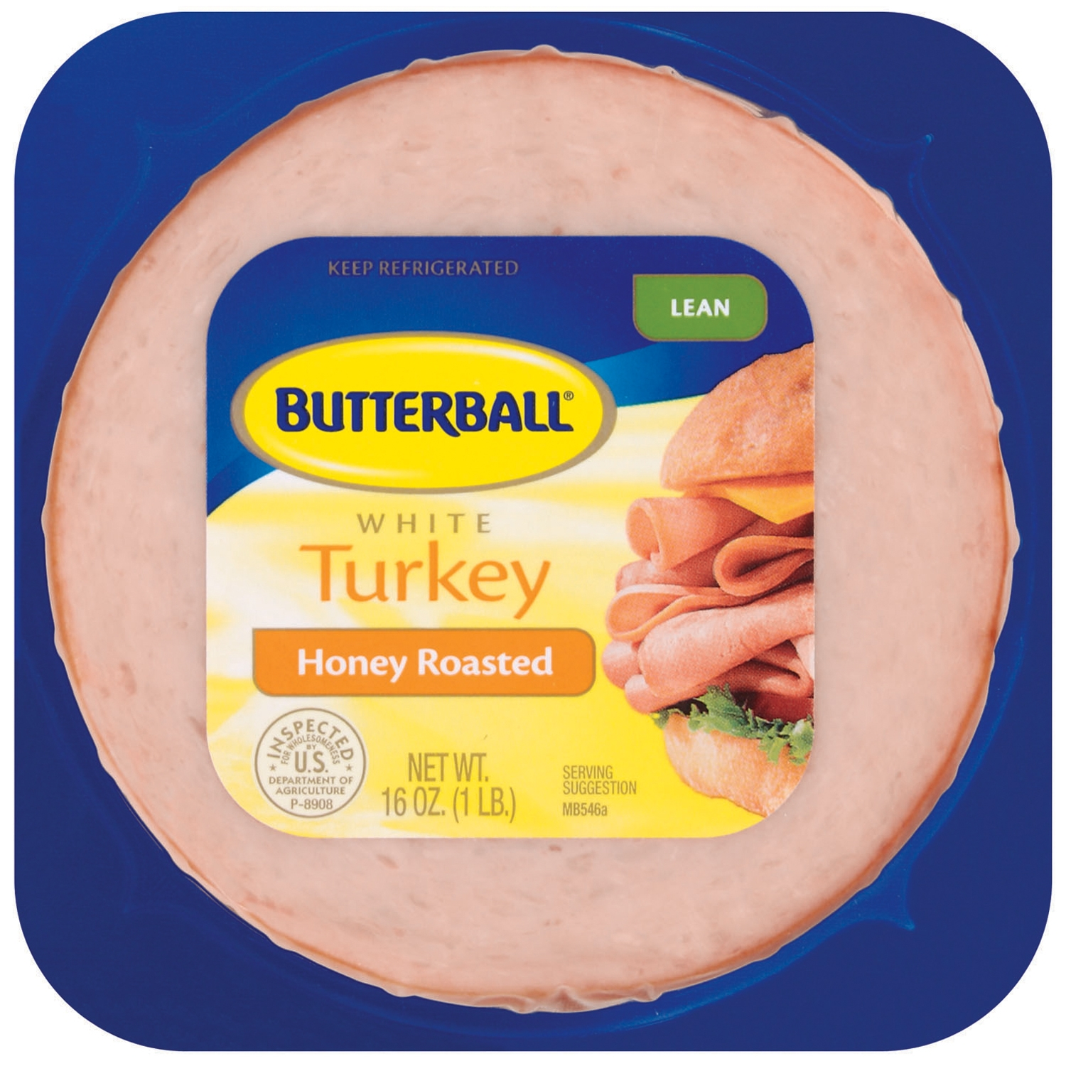 Butterball White Lean Honey Roasted Turkey 16 Oz Pack