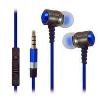 Heavy Duty 3.5mm Stereo Earbuds for LG G Pad 10.1/ G Pad 8.0/ G Pad 7.0/ G Pad 8.3 (Blue) - with Microphone + Stylus, High Fidelity Earbuds By MyNetDeals,USA