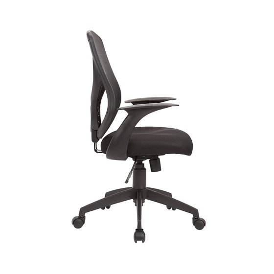 Ac Pacific 100 Mm Gas Lift Adjule Swivel Mesh Upholstered Office Chair Black