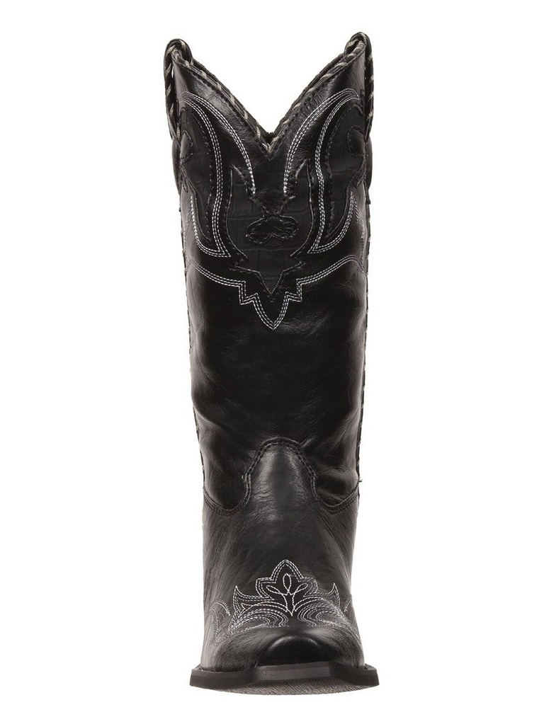 "Durango Western Boots Womens 11"" Crush Peek a Boots Black RD5510"