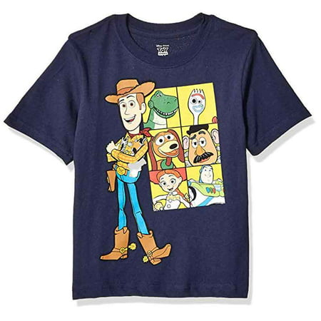 Toy Story 4 Little Boys (4-7) Short Sleeve Cotton Tee, Navy](Navy Blue Suits For Boys)