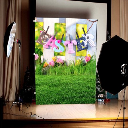 3x5FT Nature Grassland Backdrop Green Lawn Easter theme Background Photography Backdrop Studio Photo Screen Props - image 5 de 6