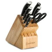 Wusthof Classic Ikon 8-Piece Knife Set with Block, Black