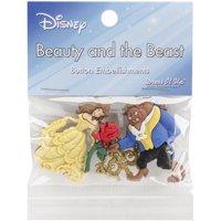 Dress It Up Disney Beauty & The Beast Embellishments, 4-Count