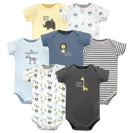 Hudson Baby Boy Cotton Bodysuits 7-Pack