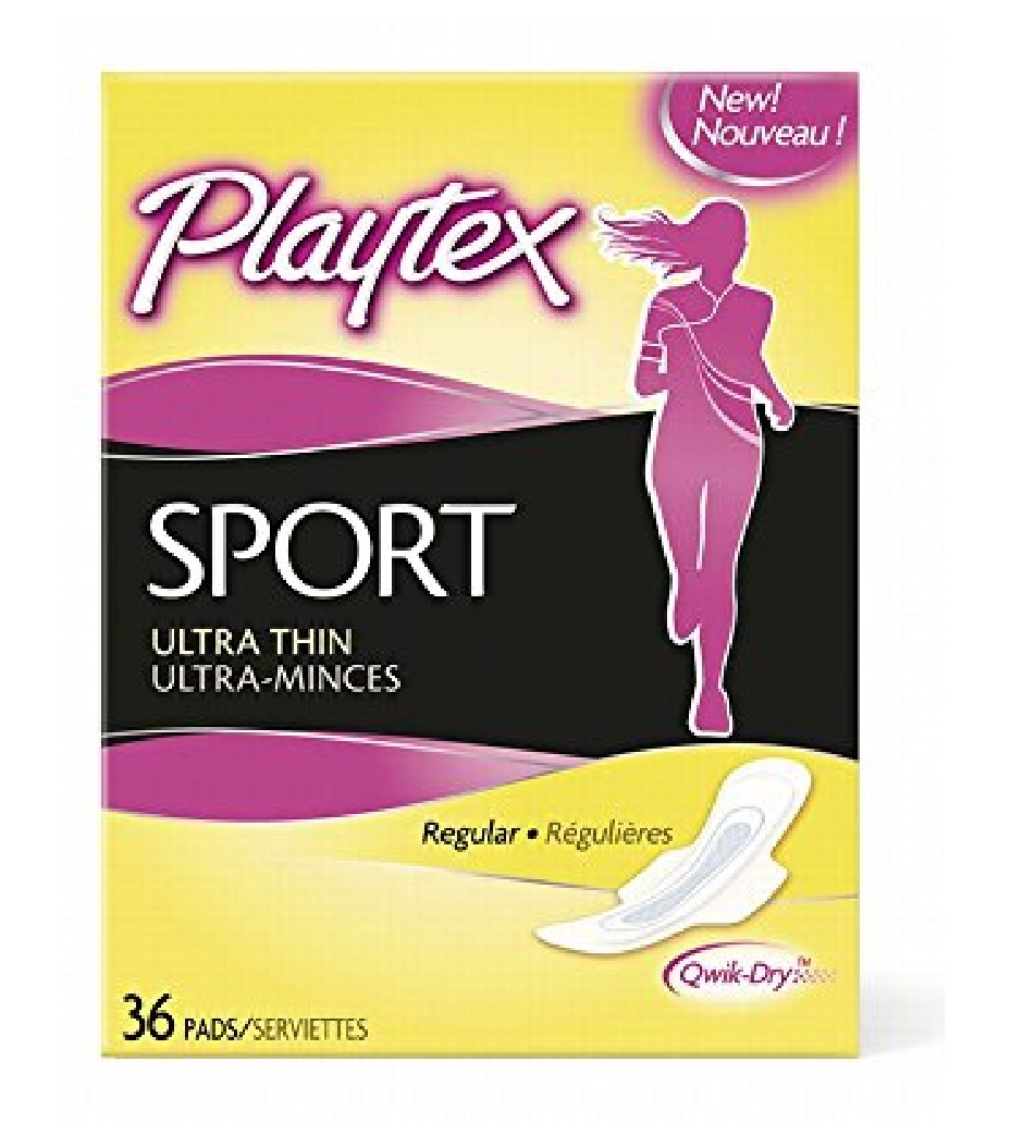 Playtex Sport Ultra Thin Pads, Regular, 36 Count + FREE Eyebrow Trimmer