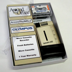 L-400 Olympus Microcassette Voice Recorder L400 Gift Boxe...
