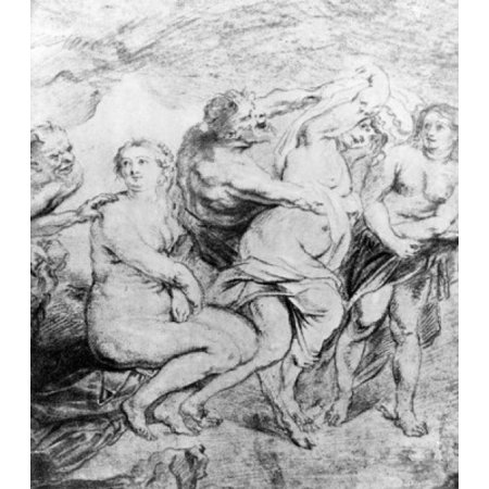 - Composition study for the painting Bathing Diana France Paris Baron Rothschild Collection Canvas Art -  (18 x 24)