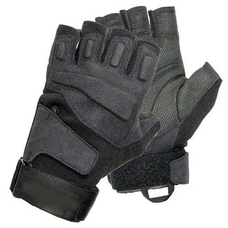 Finger Assault Gloves - BLACKHAWK! SOLAG Tac Gloves 8068XXBK - HALF FINGER BK 2X