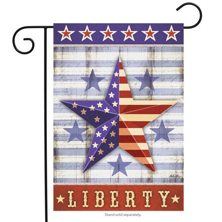 briarwood lane liberty star primitive garden flag patriotic fourth of july 12.5