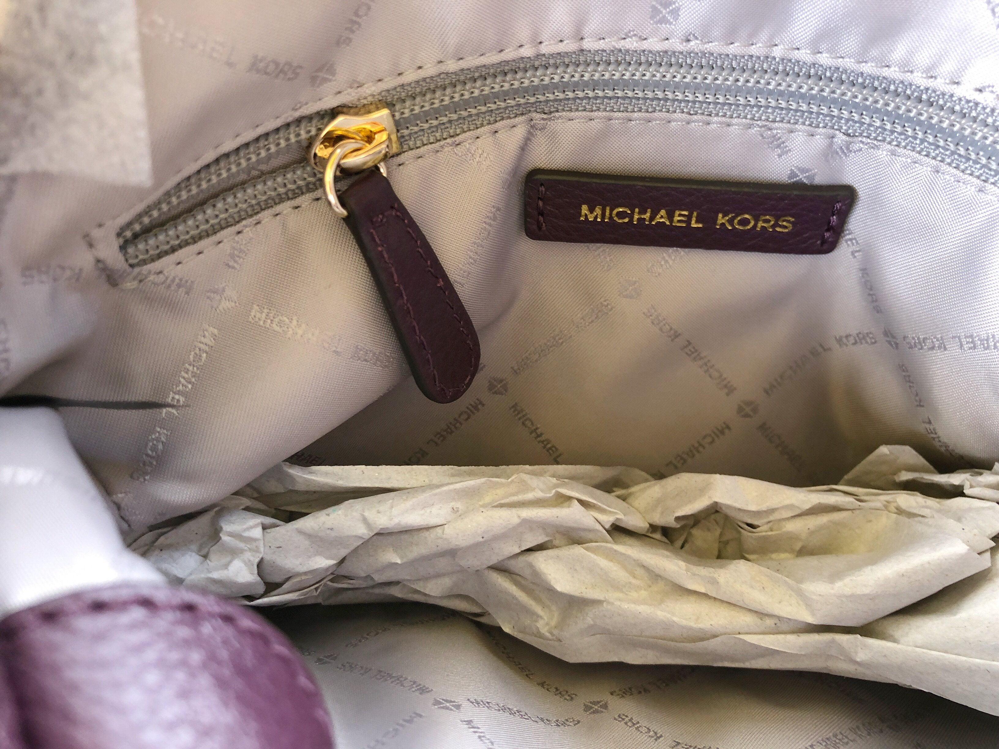 f068b6290b14 Michael Kors Jet Set Medium Messenger Shoulder Bag Chain Tote Damson Purple  - Walmart.com