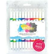Artiste Dual Tip Brush Markers, 12pk