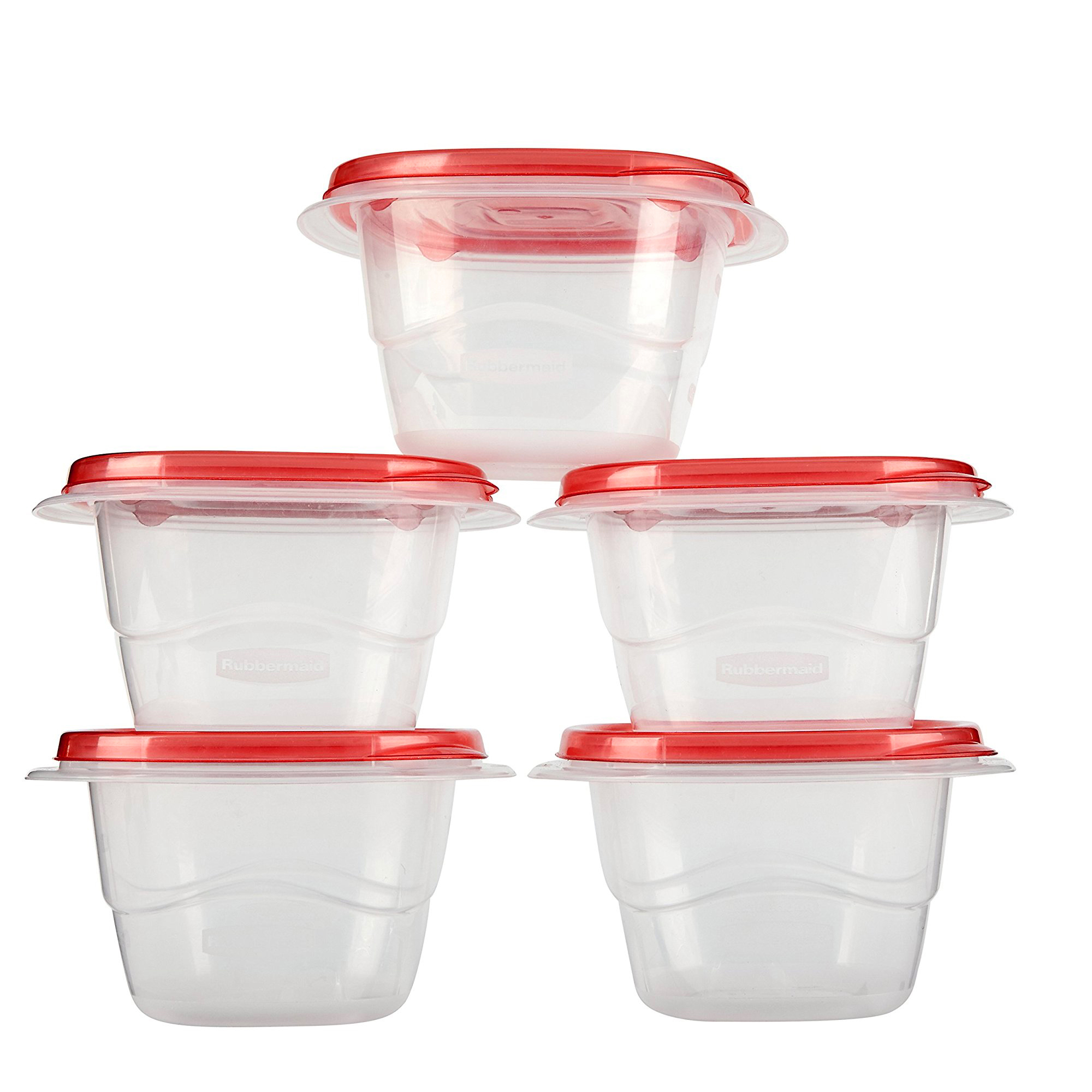 Rubbermaid TakeAlongs 17 oz Mini Deep Squares Containers + Lids, 5 count