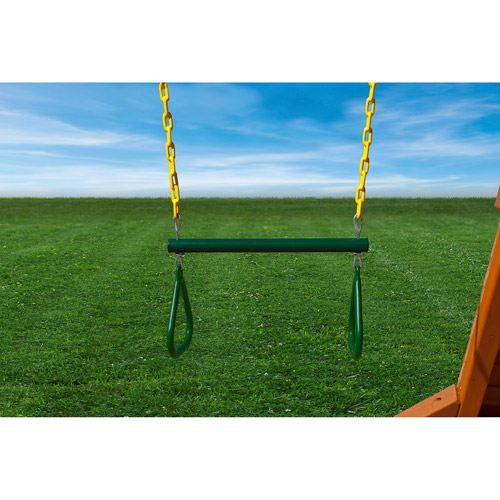 """Gorilla Playsets 17"""" Trapeze Bar Assembly with Yellow Chain"""