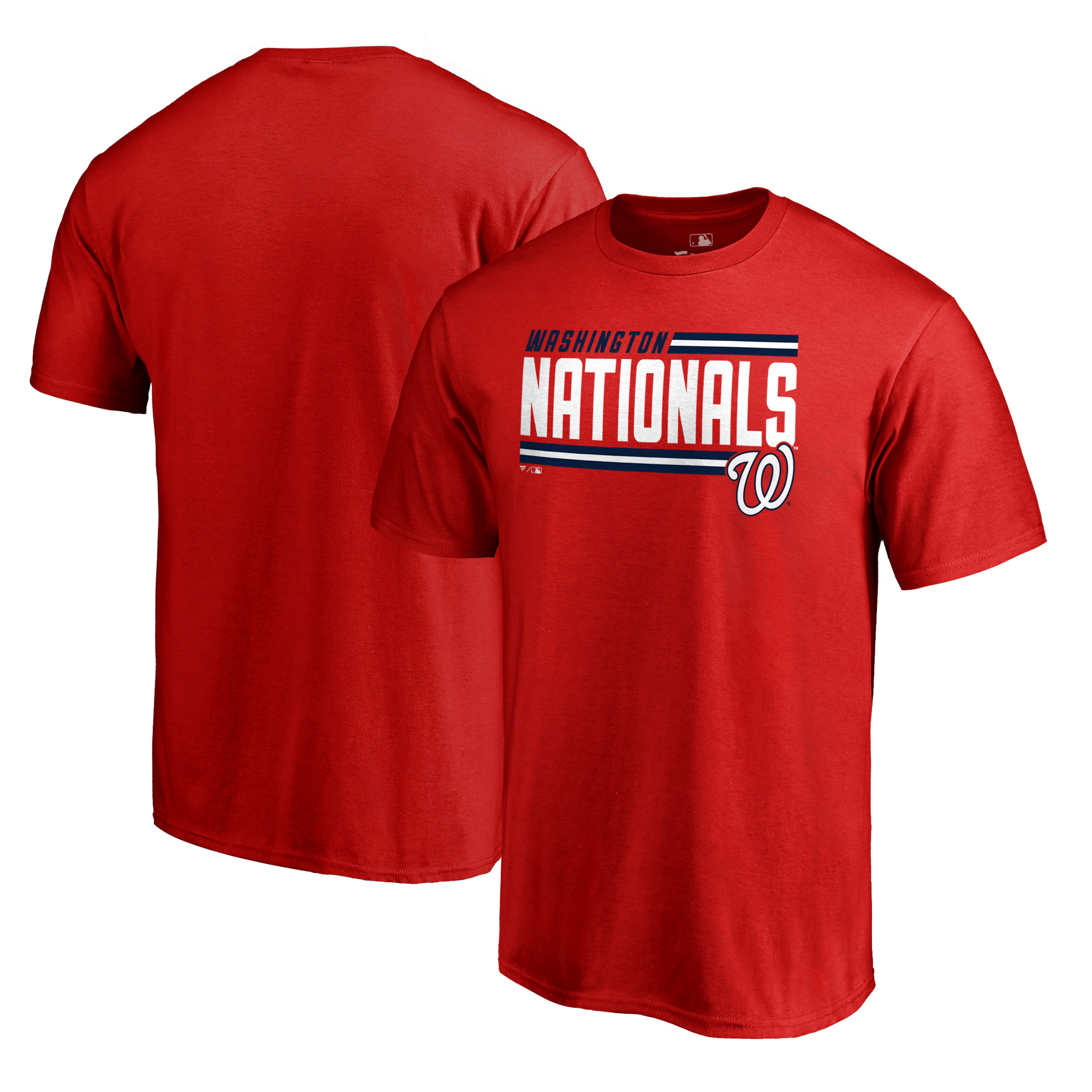 Washington Nationals Fanatics Branded Onside Stripe T-Shirt - Red