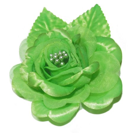 12 Silk Roses Wedding Favor Flower Corsage  - Apple (Daisy Rose Corsage)