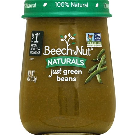 Green Beans Baby Food ((10 Pack) Beech-Nut Naturals Just Green Beans Stage 1 Baby Food, 4.0 oz)