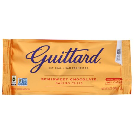 Guittard Baking Chips, Semisweet Chocolate, 12 Oz