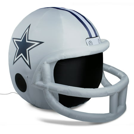 NFL Dallas Cowboys Team Inflatable Lawn Helmet, One Size, Gray