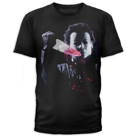 Halloween- Vicious Michael Myers Apparel T-Shirt - Black](Hallowen Clothes)