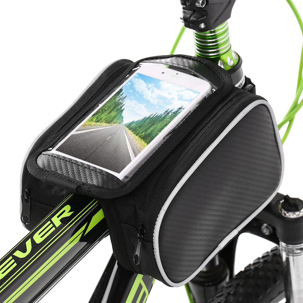 Bike Front Tube Phone Bag Pocket 5.5 inch Touch Screen Riding Cycling Supplies