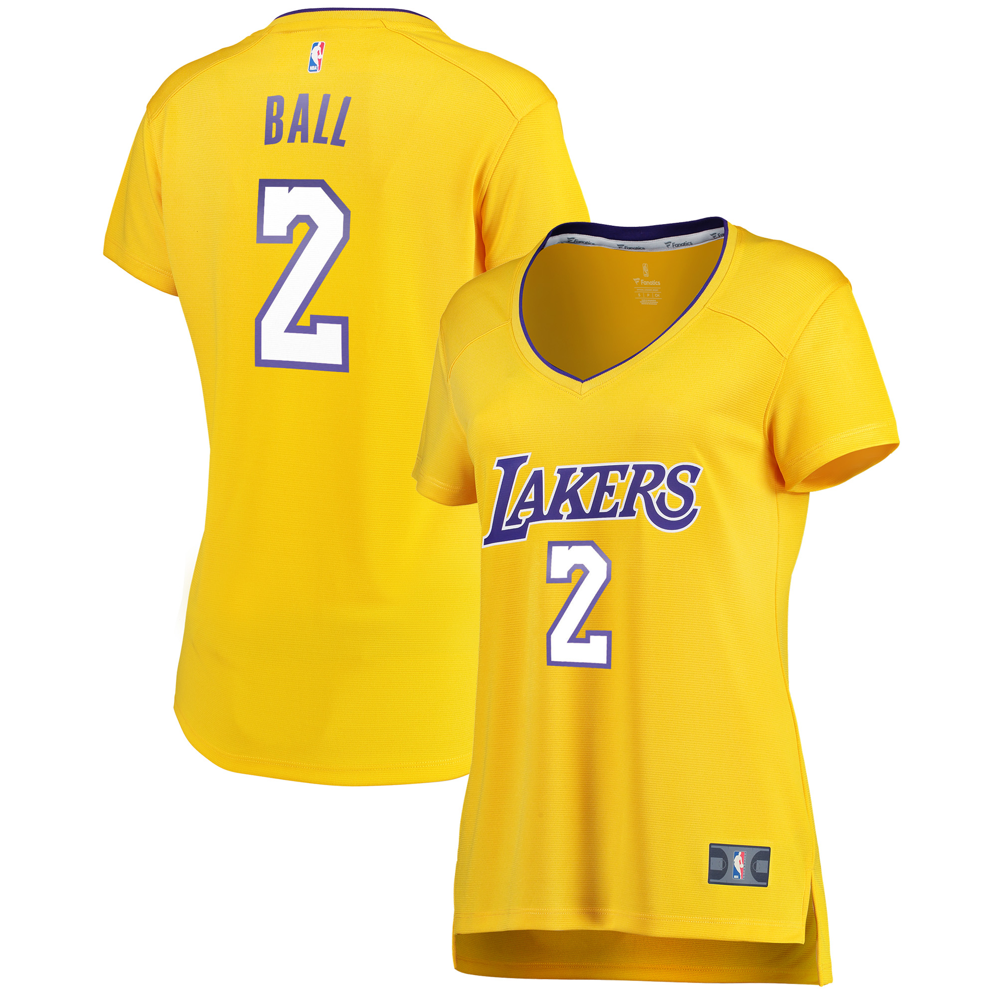 61df7730e5f4 Lonzo Ball Los Angeles Lakers Fanatics Branded Women s Fast Break Replica  Icon Edition Jersey - Gold - Walmart.com