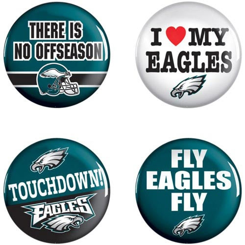 Philadelphia Eagles WinCraft 4-Pack Button Set - No Size
