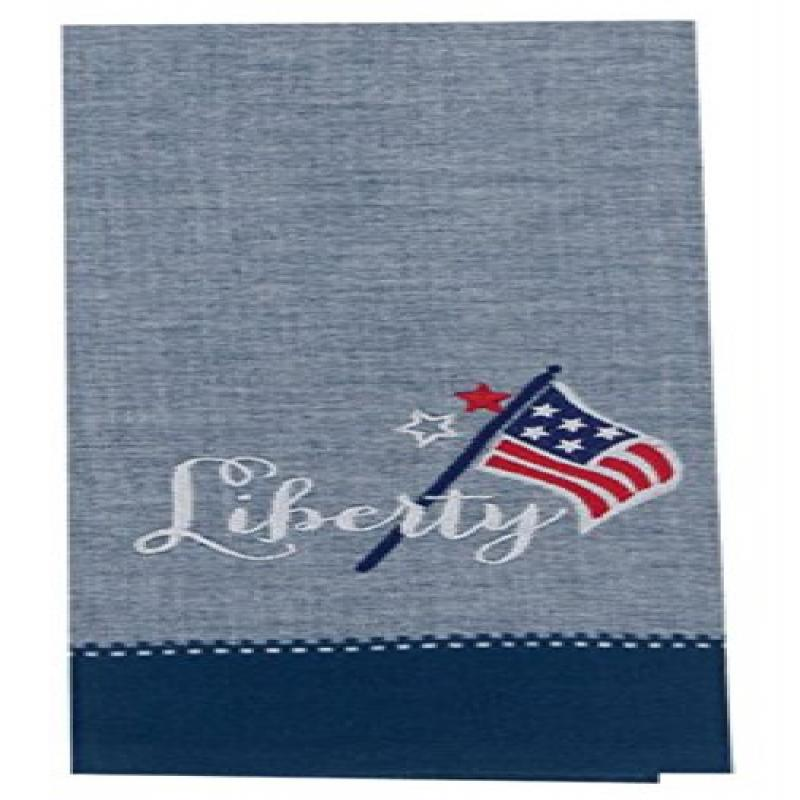 Kay Dee Designs Patriotic Cotton Embroidered Tea Towel, 18  By 28 Inch,