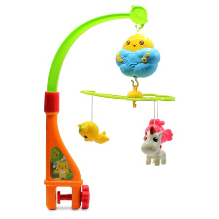 Mobile Body (Kids Baby Electronic Spinning Clover Mobile Sun Animal Friends Newborn Mobile Developmental Toy for Children Boys)