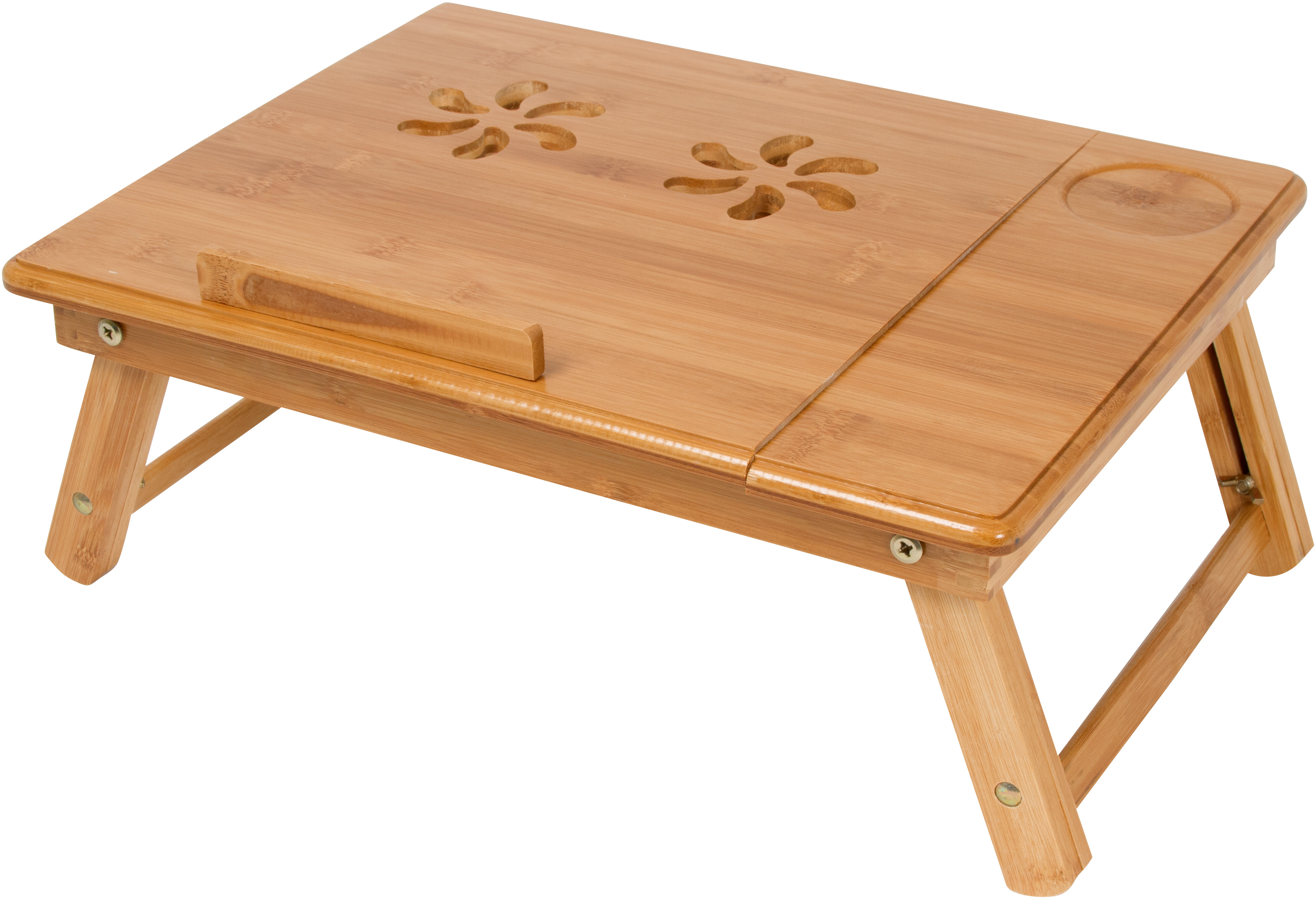 Lightweight and Portable Folding Bamboo Bed Tray By Trademark Innovations by Trademark Innovations