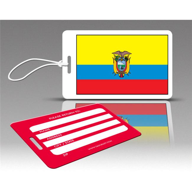 Insight Design 770543 TagCrazy Luggage Tags- Ecuador Flag- Set of Three
