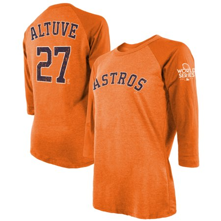 Jose Altuve Houston Astros Majestic Threads Women s 2017 World Series  Champions Name   Number Tri-Blend 3 4-Sleeve T-Shirt - Orange - Walmart.com 37b40de5b