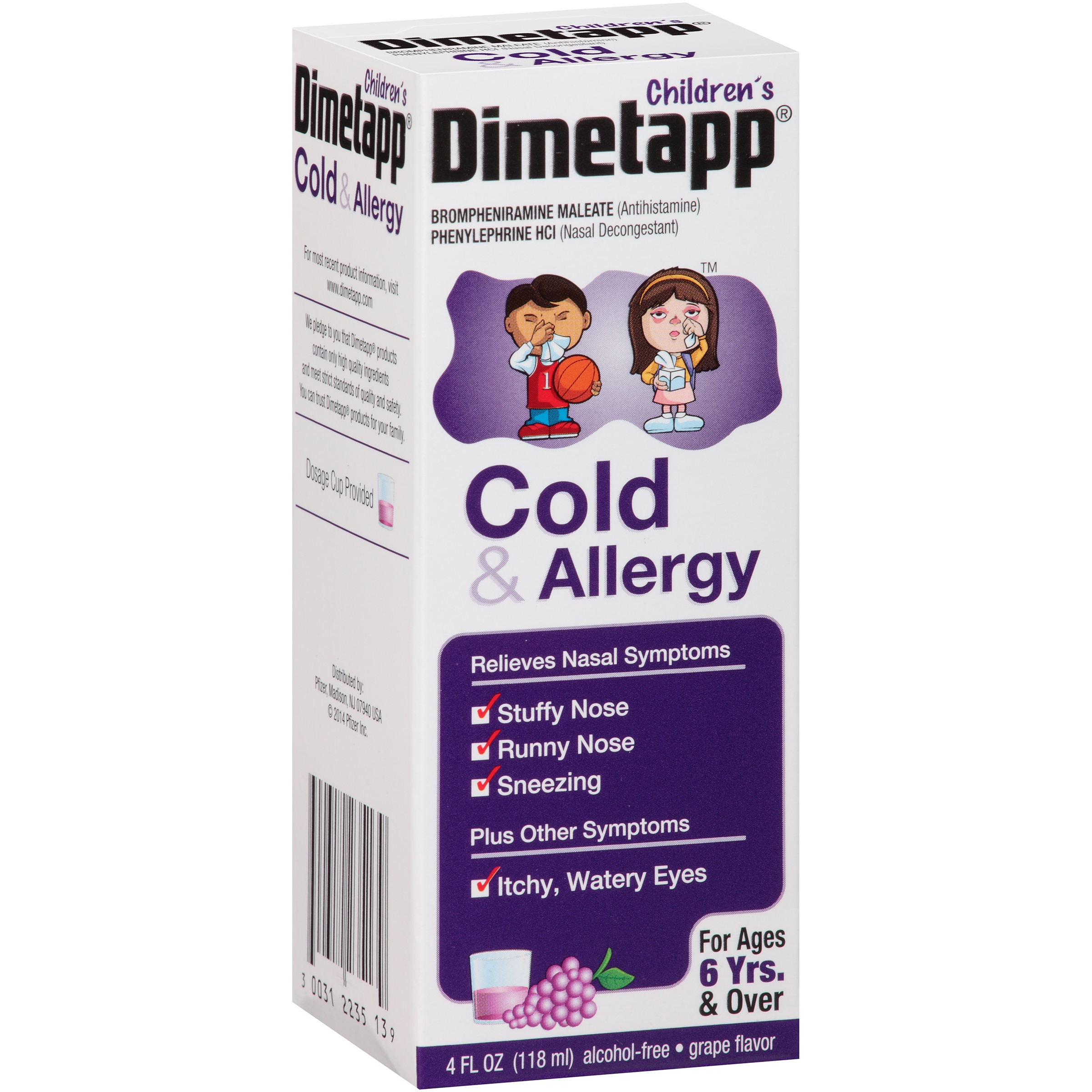 Children's Dimetapp Cold & Allergy Grape Flavor, 4.0 FL OZ