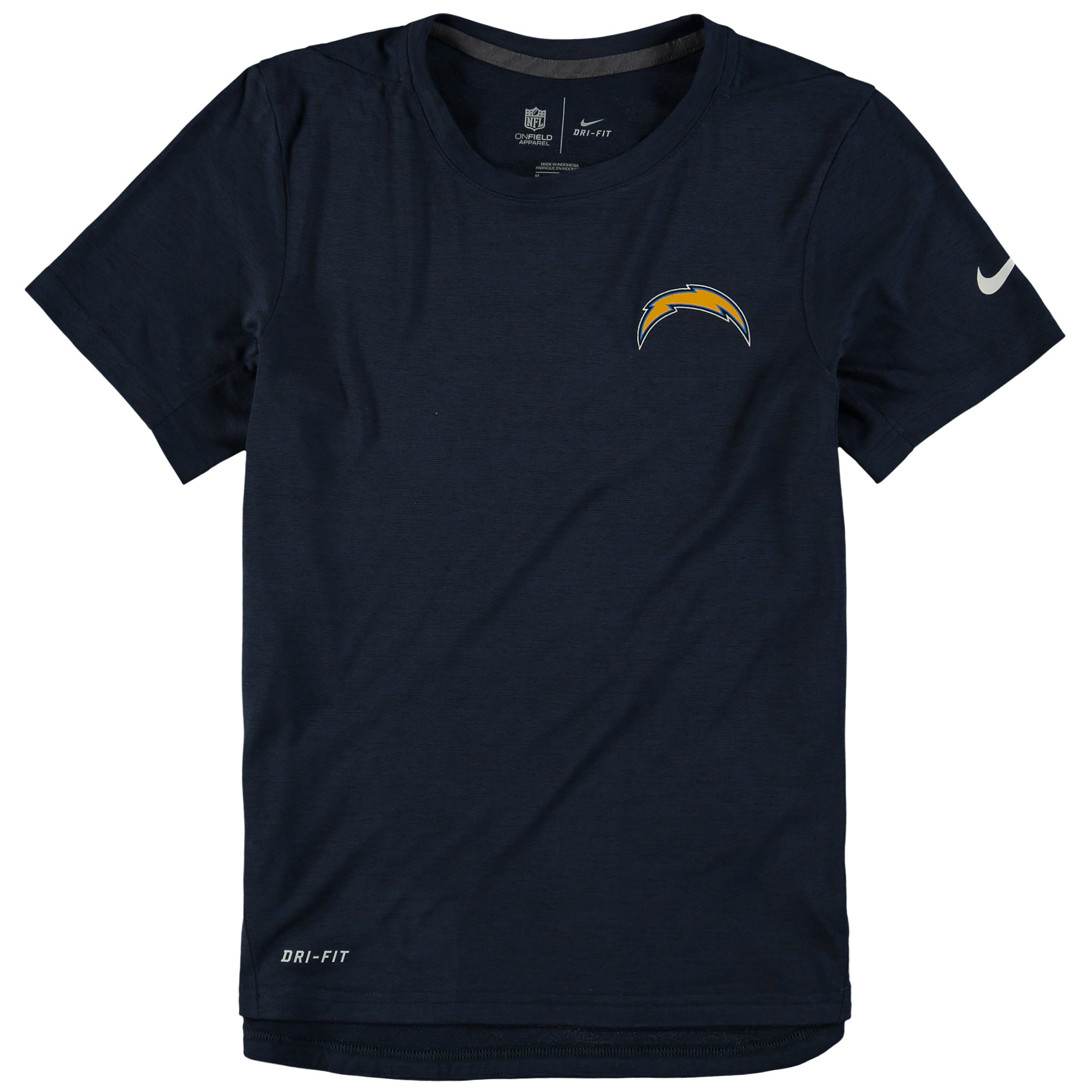 Los Angeles Chargers Nike Youth Touch Performance T-Shirt - Navy