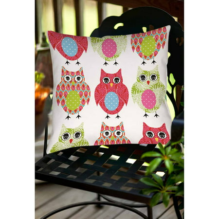 Thumbprintz Owls Indoor/Outdoor Pillow