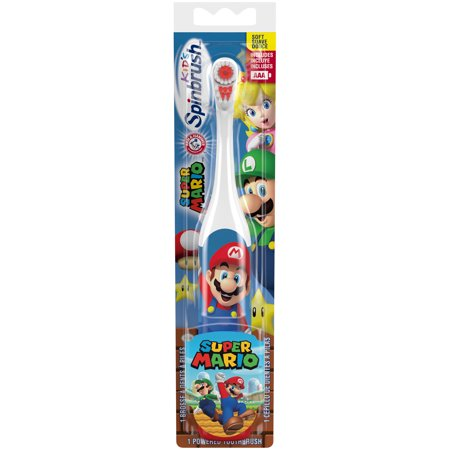 Arm & Hammer Kid's Spinbrush Super Mario Powered Toothbrush, 1 -