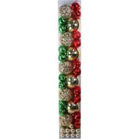 Holiday Time Shatterproof Christmas Ornament Set, 70 Count, Red / Green / Gold