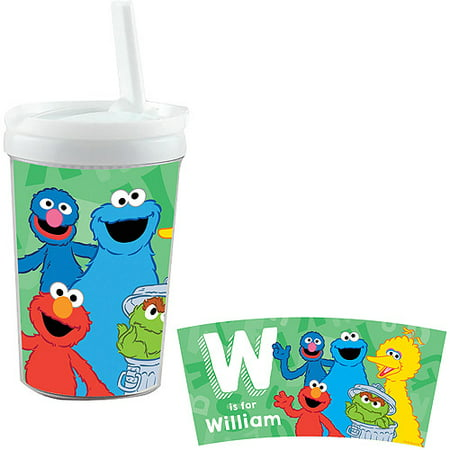 Personalized Sesame Street Alphabet Sippy Cup (Sesame Street Cups)