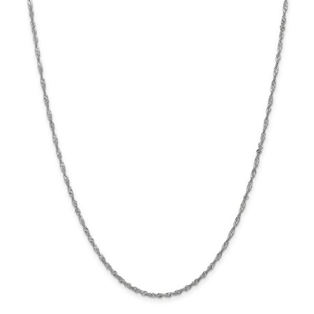 14K White Gold 1.7mm Singapore Chain - image 5 of 5