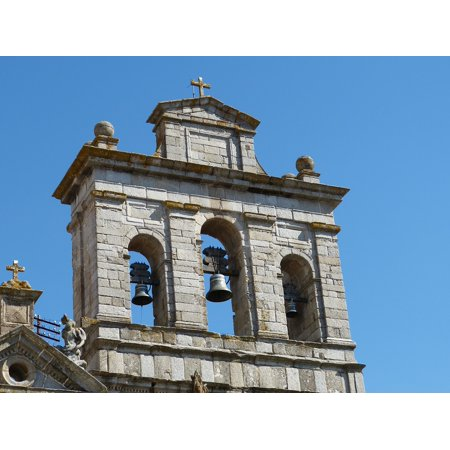 LAMINATED POSTER Facade Evora Old Town Portugal Church Tower Poster Print 24 x (Church Old Print)