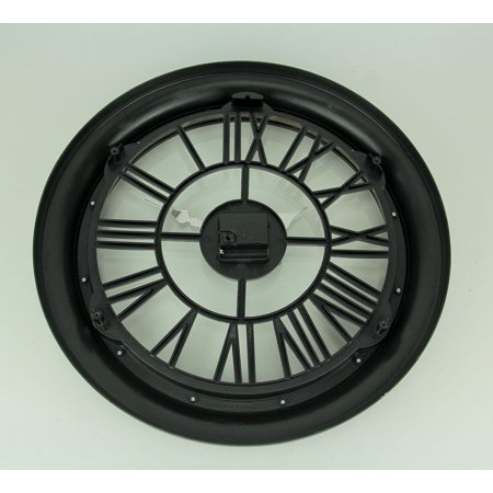 Black and Gold Open Frame Cut Out Design Wall Clock - image 1 of 3